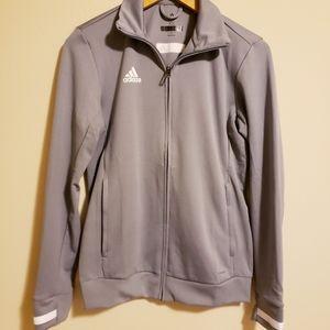 Adidas light grey jacket